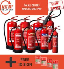 Fire Extinguishers - CO2 / Dry Powder / Foam / Water / Wet Chemical / Free 24 Hr