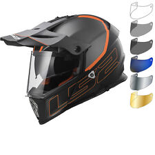LS2 MX436 Pioneer Element Adventure Helmet & FREE Visor Dual Sport GhostBikes