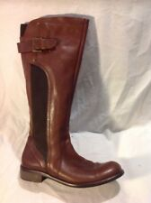 Next Brown Knee High Leather Boots Size 40