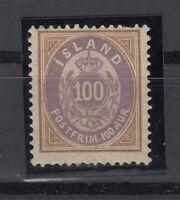 BB5615/ ICELAND – MI # 17A MINT MH - CV 110 $