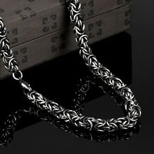 MENS Silver Stainless Steel Dragon Head Chain Necklace Link Jewelry Hot 7mm 24""
