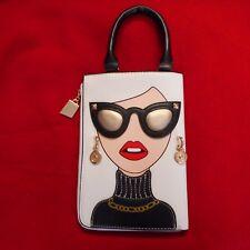 """NEW """"Glamour Girl"""" with Earrings & Sunglasses Handbag in WHITE"""