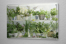 L. Sören Tin sign kitchen decor herbs Metal wall plate