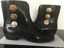 Vivienne Westwood Anglomania Melissa Black Ankle Boot Wellies Size 37