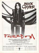 ALICE COOPER Freedom and Tour 1988 UK magazine ADVERT / mini Poster 11x8 inches