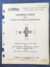 Lempco - Universal Joints for Tractor & Industrial Equipment - 1962 Catalog   F