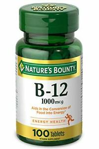 Nature's Bounty Vitamin B-12 Supplement, Supports Metabolism and 100 Count