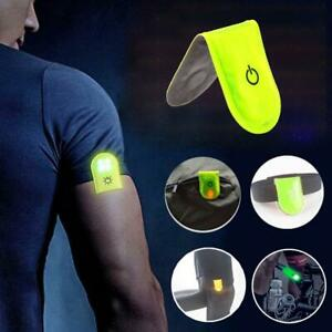 LED SAFETY LIGHT REFLECTIVE MAGNET CLIP ON STROBE RUNNING WALKING BIKE CYCLING F