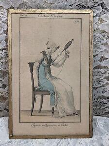 Rare Antique 1803 Costume Parisien Fashion Plate #484