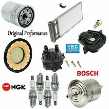 Tune Up Kit Rotor Cap Filters Plugs for Nissan Frontier L4; 2.4L 2000-2004