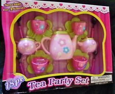 18 Piece Dishes & Tea Sets Play Set New Flower Design