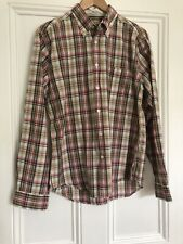 Gant Tartan Plaid Long Sleeves Oxford Shirt Pink Green Brown Gingham Men Large