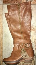 NEW! Not Rated Women's Tan Brown Biker Fashion Riding Boots Tan Size 6.5 M