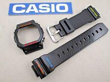Genuine Casio G-Shock G-Lide GWX-5600 black resin rubber watch band & bezel set