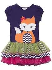 NWT Rare Editions Short Sleeve Purple Tutu Glitter Fox Dress size 2T