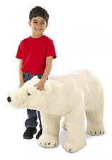 Large Polar Bear White Plush Toy Stuffed Animal Realistic Soft Cuddle Doll Kids