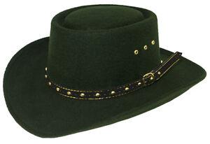 NEW! Western Faux Felt Cowboy Gambler Hat Adult Size S/M or L/XL GREEN