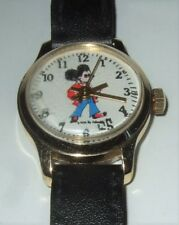 MIckey Mouse Watch Mickey Mouse Hippie Watch Dated 1970 Never Used Needs TLC