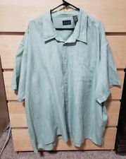 Alexander Lloyd Mens Shirt Short Sleeve  Green 4XB XXXX Big