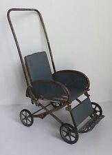 """Kleiner antiker, ausgefallener Klapp-Puppenwagen """"Jane"""" ~1930"""