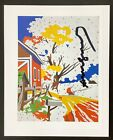 Hand Signed Signature - ANDY WARHOL -  Vintage Multi-Colored 8 in x 10 in Print