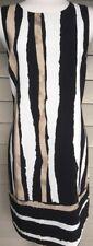 VINCE CAMUTO Black & Tan Dress   Size 10