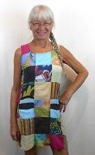 Rising International NEPAL HANDMADE MULTI-COLOR PATCHWORK COTTON DRESS POCKETS