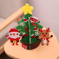Mini Table Top Snow Christmas Tree Ornaments Home Xmas LED Decor Gift L