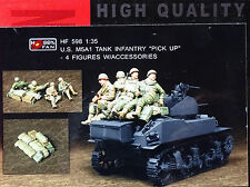 "HOBBY FAN® HF598 Infantry w/Asseccories ""Pick Up"" of US M5A1 Tank in 1:35"