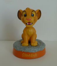 RARE Japan Disney The Lion King Cub Simba Name Bobble Head Resin Figurine