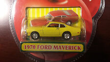 1:64 Motormax Fresh Cherries 1970 Ford Maverick Yellow Diecast Unopened