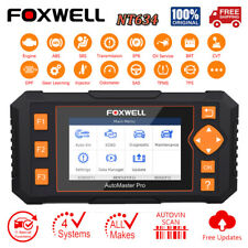 Foxwell NT634 OBD2 Scanner EPB Oil DPF Reset Injector Coding ABS SRS Diagnose To
