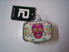 Pill Box, Candy Skull Design, Pink, 2 Compartments, Brand New