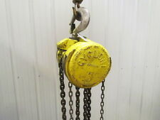 CM Cyclone Model M 3 Ton Manual Chain Fall Hoist 10' Lift 6000 lb Capacity