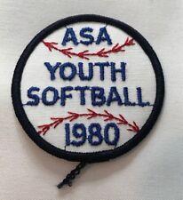 Vintage ASA Youth Softball 1980 Softball USA D