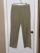 NWOT Men's Tommy Bahama Tan Khaki Chino Pants flat Front Standard Cuff Sz 33x34