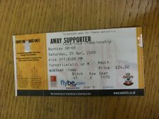 25/04/2009 Ticket: Southampton v Burnley  (folded). Thanks for viewing this item