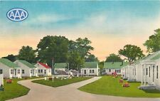 Perry Georgia~Flower Shrubs Between Every Cabin~Perry Court~1940s Postcard