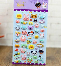 Korea Design Animal Kingdom Bubble Sticker for Diary Reward Moblie Phone☆