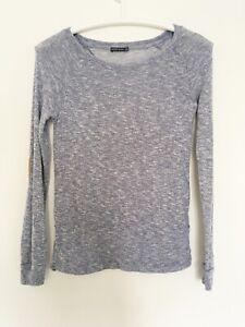 BERSHKA Sz S Womens Sweater Pullover Blouse Long Sleeve 8 10 M 36 38 Knit Top x