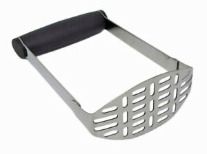 CookSpace Handheld Stainless Steel Wide Grip Potato Vegetable Masher (30656)