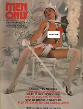 MEN ONLY Vol. 40 No. 3 / Rare Englisch Magazine 1975 Mit Poster!