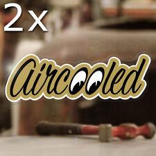 2x pieza Aircooled Moon Pegatina Sticker escarabajo trike autobús tiesto autocollante Cox