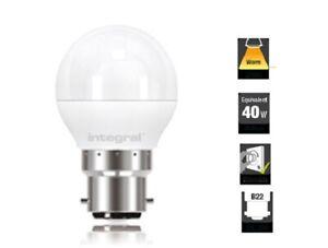 2 x 5.6W (40W) G45 Golfball Mini Globe 2700K 470lm B22 Dimmable-Lamp Integral