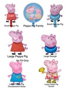 Peppa Pig George Family Balloons Children Girls Boy's Birthday Party Decorations