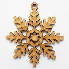 10 Chirstmas Decoration MDF Snowflake no6 40mm Wood For Gift Hearts Hanging