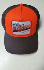Cat Ball cap  ORANGE & BROWN Polymesh CATERPILLAR mesh hat New w/ Free Shipping