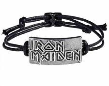 Alchemy England - Iron Maiden Logo Bracelet, Metal Music, Legendary Rockers Gift