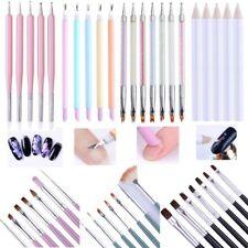 5Pcs Dual-ended Nail Art Pen Dead Skin Fork 7Pcs Painting Drawing Brushes Set