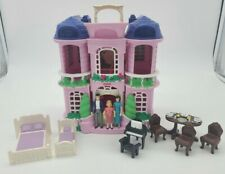 Fisher Price Sweet Streets Townhouse Mansion 100% Complete Victorian Dollhouse